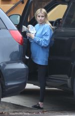 Emma Roberts Was spotted make-up free while arriving home in Los Feliz