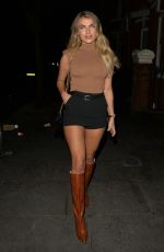 Francesca Allen Heads out for dinner with Maria Wild in London