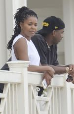 Gabrielle Union Does some wine tasting at Grassini Family Vineyards winery in Santa Barbara