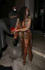 Gabrielle Union Puts on a sultry display grabbing dinner with friends in West Hollywood