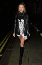 Georgia Harrison At IT restaurant , Mayfair for drinks with friends