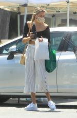 Greer Grammer Picks up some goodies as she visits her local Farmer