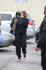 Hailey Bieber Arrives at a SPA in Los Angeles