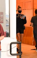 Hailey Bieber (Baldwin) Keeps it casual in an all black ensemble as she leaves a dermatologist appointment in Beverly Hills