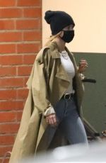 Hailey Bieber Exits a medical building with her bodyguard in Beverly Hills