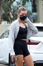 Hailey Bieber Gets some juice after a workout in West Hollywood