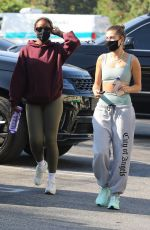 Hailey Bieber Heading to yoga with her stylist and a friend in West Hollywood