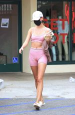 Hailey Bieber In Workout outfit in West Hollywood