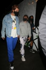 Hailey Bieber & Justin Bieber Departing with friends after meeting for dinner at 40 Love in West Hollywood