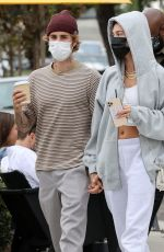 Hailey Bieber & Justin Bieber have a romantic lunch date together at the Honor Bar in Santa Barbara