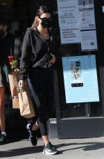 Hailey Bieber, Justine Skye & Kendall Jenner are seen at Earth Bar after their workout in West Hollywood