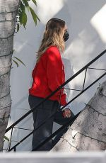 Hailey Bieber Making an afternoon visit to a salon in West Hollywood