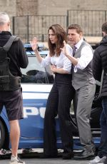 Hayley Atwell Filming for
