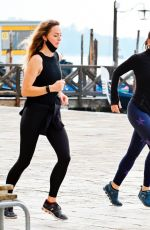 Hayley Atwell Out Jogging in Venice, Italy