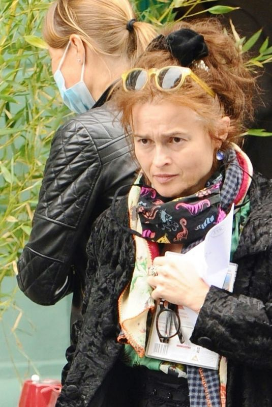 Helena Bonham Carter Display her kooky style as she heads out for a stroll in North London