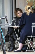 Helena Bonham Carter Enjoys a bite to eat at England