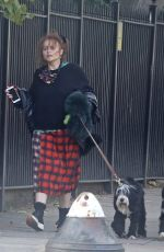 Helena Bonham Carter Take her dogs for a stroll with her boyfriend Rye Dag Holmboen in London