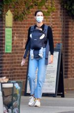 Hilary Rhoda Out in New York with her newborn