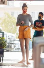 Ireland Baldwin Getting takeout at Que Ricos Tacos in LA