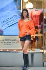 Irina Shayk At Falconeri for her IG live in SoHo