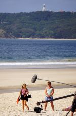 Isabel Lucas On the set of her new film in Byron Bay in New South Wales