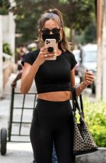 Izabel Goulart Dons a Sporty Look in Sao Paulo