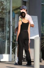 Jacob Elordi & Kaia Gerber Wait for their lunch order at Malibu Country mart in Malibu