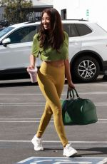 Jeannie Mai Arriving at DWTS Rehearsal in Los Angeles