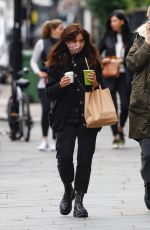 Jenna Coleman Spotted wearing a mask and grabing a juice in Notting Hill