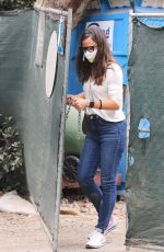 Jennifer Garner Check on the construction of her new property in Brentwood