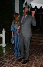 Jennifer Lopez and Alex Rodriguez look classy for a dinner date at San Vicente Bungalows