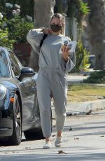 Jennifer Morrison Picking up iced coffee in West Hollywood