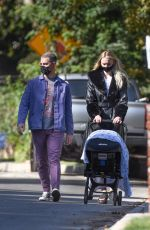 Joe Jonas & Sophie Turner Pictured getting some fresh air during a stroll with their daughter in Los Angeles