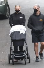 Joe Jonas & Sophie Turner Walking their daughter while out on a stroll in Los Angeles