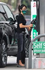 Jordana Brewster At a Gas Station in Brentwood