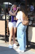 Jordyn Jones Spotted going for coffee at Urth Caffe after lunch in West Hollywood