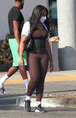 Jordyn Woods Steps out with new boyfriend Karl-Anthony Towns to pick up groceries in Calabasas