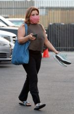 Justina Machado Arriving for practice at the DWTS studio in Los Angeles