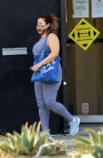 Justina Machado Heads into the DWTS studios in Los Angeles