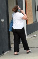 Justina Machado Takes a phone call as she heads to the DWTS dance studio in Los Angeles