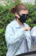 Kate Mara Dons a black face mask while out in Beverly Hills