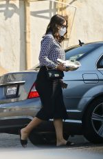 Katharine McPhee Wears a monochrome outfit as she picks up a salad lunch to-go at Sweetgreen in Los Angeles