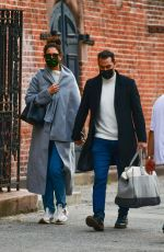 Katie Holmes And Emilio Vitolo hold hands in Soho, New York