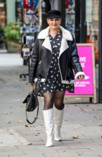 Kelly Brook Arrives to Heart radio in London