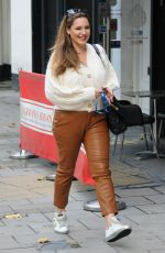Kelly Brook Arriving at Global Studios Heart FM Radio in London