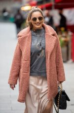 Kelly Brook Looks warm and comfy outside Global Radio in London