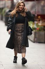 Kelly Brook Outside Global Studios, Heart FM Radio in London
