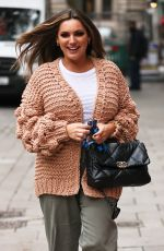 Kelly Brook Pictured arriving at the Global studios for her Heart radio show in London