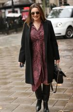 Kelly Brook Pictured at Heart Radio in London
