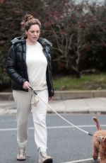 Kelly Brook Walking her dog in London